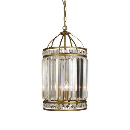 Подвесная люстра Favourite Ancient 1085-3P, 3xE14x40W, коричневый, прозрачный, металл, металл с хрусталем