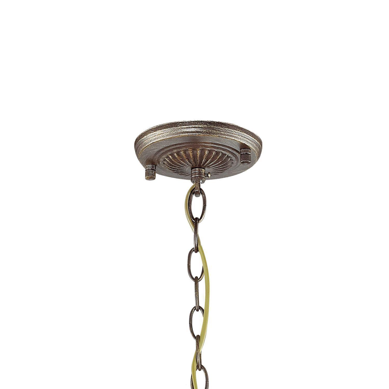 Подвесная люстра Favourite Bazar 1624-3P, 3xE14x40W, коричневый с золотой патиной, коньячный, металл, металл с хрусталем - фото 2