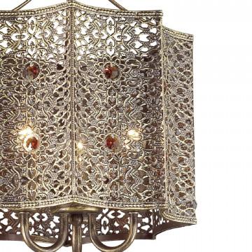Подвесная люстра Favourite Bazar 1624-3P, 3xE14x40W, коричневый с золотой патиной, коньячный, металл, металл с хрусталем - миниатюра 3