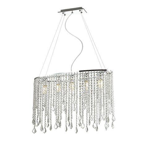 Подвесная люстра Favourite Rain 1692-5P, 5xE14x40W, хром, прозрачный, металл, хрусталь