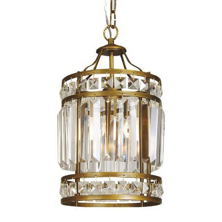 Подвесной светильник Favourite Ancient 1085-1P, 1xE27x40W, коричневый, прозрачный, металл, металл с хрусталем