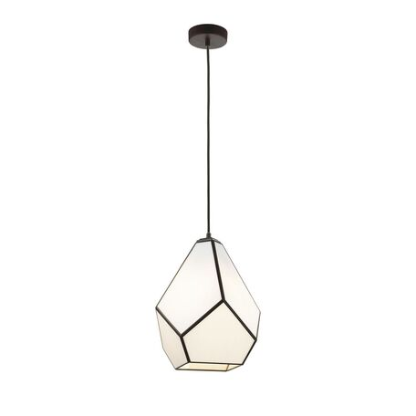 Подвесной светильник Favourite Eislager 1916-1P, 1xE27x60W, черный, белый, черно-белый, металл, стекло