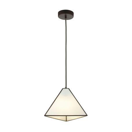 Подвесной светильник Favourite Piramid 1918-1P, 1xE14x40W, черный, белый, черно-белый, металл, стекло