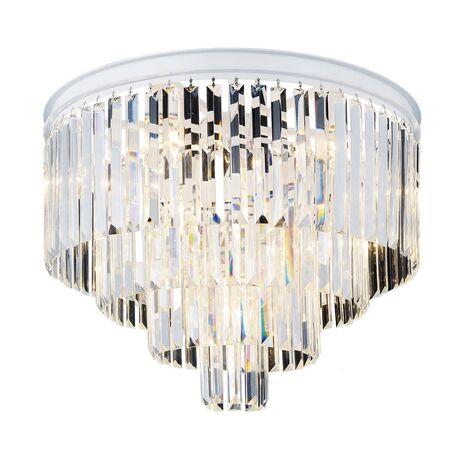 Потолочная люстра Favourite Geschosse 1490-10U, 10xE14x40W, белый, прозрачный, металл, хрусталь