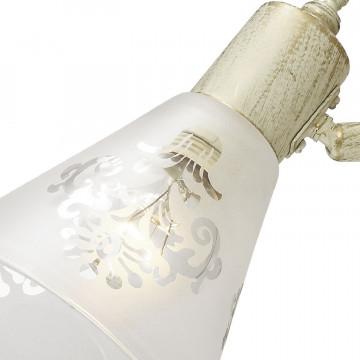 Потолочный светильник с регулировкой направления света Favourite Gumbata 1794-2U, 2xE14x40W, бежевый с золотой патиной, белый, металл, стекло - миниатюра 2