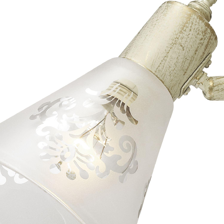 Потолочный светильник с регулировкой направления света Favourite Gumbata 1794-2U, 2xE14x40W, бежевый с золотой патиной, белый, металл, стекло - фото 2