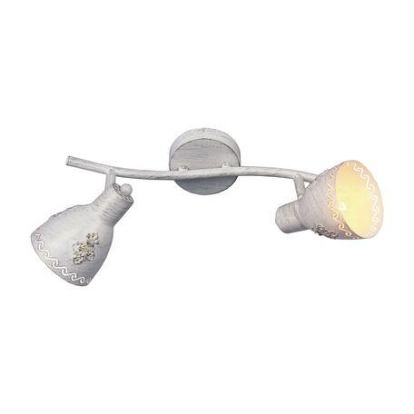 Потолочный светильник с регулировкой направления света Favourite Martos 1798-2U, 2xE14x40W, белый с золотой патиной, металл