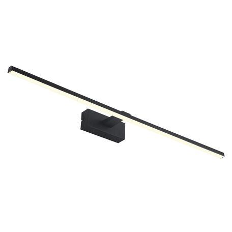Настенный светодиодный светильник для подсветки зеркал Favourite Scriptor 2432-3W, IP44, LED 18W 4000K 630lm, черный, металл