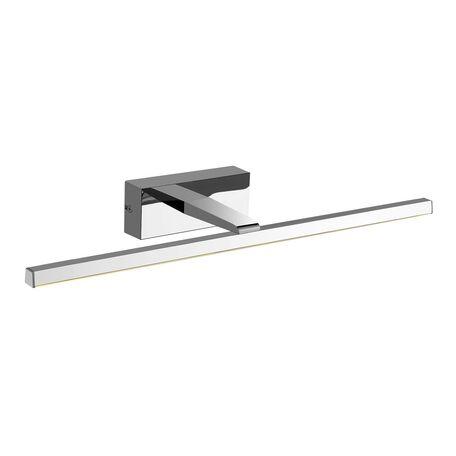 Настенный светодиодный светильник для подсветки зеркал Favourite Scriptor 2433-1W, IP44, LED 8W 4000K 448lm, хром, металл