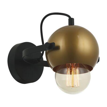 Настенный светильник с регулировкой направления света Favourite Kugeln 2358-1W, 1xE27x40W, черный, матовое золото, металл
