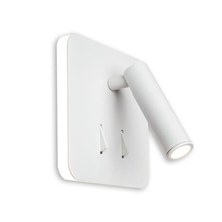 Настенный светодиодный светильник с регулировкой направления света с дополнительной подсветкой Citilux Декарт CL704420, LED 9W 3000K 700lm, белый, металл