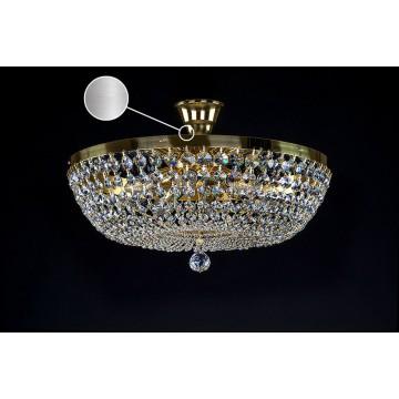 Потолочная люстра Artglass GEENA DIA 500 NICKEL SP, 8x40W, никель, прозрачный, металл, кристаллы SPECTRA Swarovski