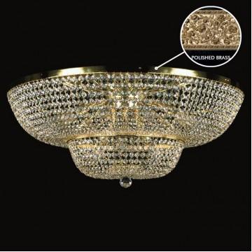 Потолочная люстра Artglass GEENA DIA 600 POLISHED SP, 12xE14x40W, золото, прозрачный, металл, кристаллы SPECTRA Swarovski