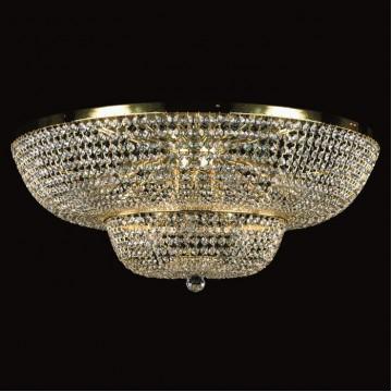 Потолочная люстра Artglass GEENA DIA 800 CE, 15xE14x40W, золото, прозрачный, металл, хрусталь Artglass Crystal Exclusive