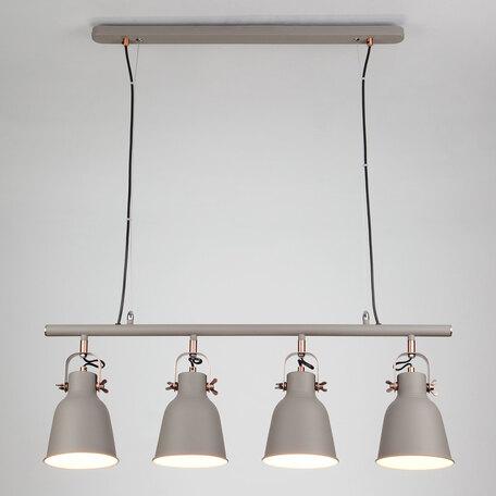 Подвесной светильник с регулировкой направления света Eurosvet Projector 50083/4 серый, 4xE27x40W, серый, металл