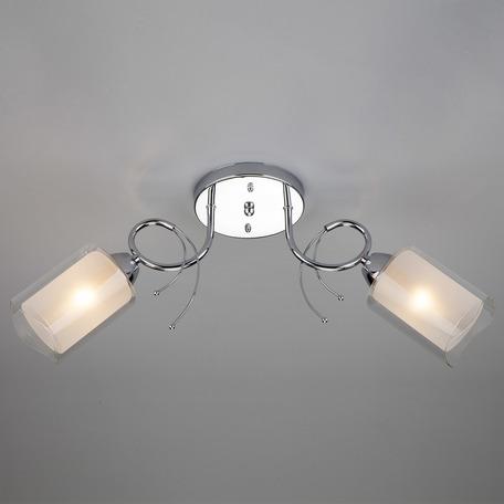 Потолочный светильник с регулировкой направления света Eurosvet Renee 30122/2 хром, 2xE27x60W, хром, белый, металл, стекло
