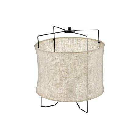 Настольная лампа Eglo Bridekirk 43293, 1xE27x40W, черный, коричневый, металл, текстиль