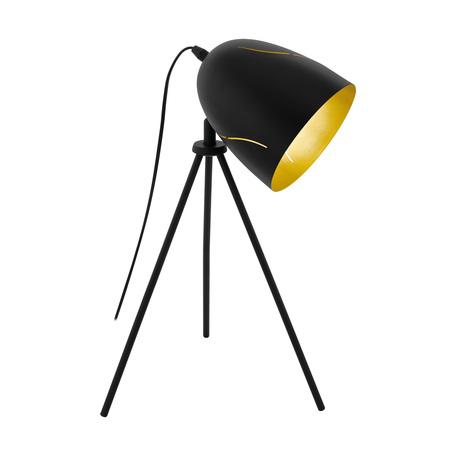 Настольная лампа Eglo Trend & Vintage Loft Hunningham 43007, 1xE27x60W, черный, металл