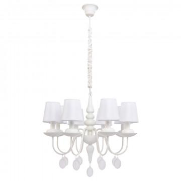 Подвесная люстра Arte Lamp A2510LM-8WH Signora, белый