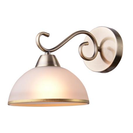 Бра Arte Lamp Beatrice A1221AP-1AB, 1xE27x40W, бронза, белый, металл, стекло