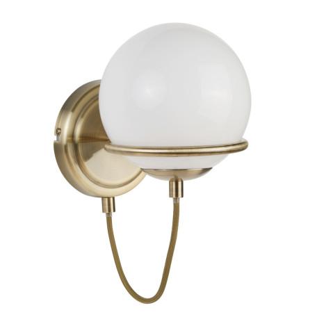 Бра Arte Lamp Bergamo A2990AP-1AB, 1xE14x40W, бронза, белый, металл, стекло