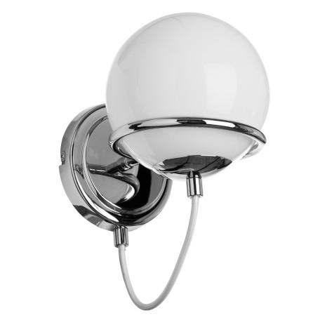 Бра Arte Lamp Bergamo A2990AP-1CC, 1xE14x40W, хром, белый, металл, стекло