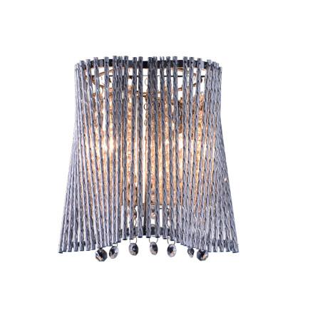 Бра Arte Lamp Incanto A4207AP-2CC, 2xG9x40W, хром, прозрачный, металл, хрусталь