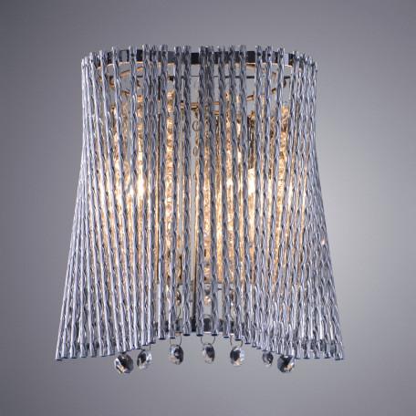Бра Arte Lamp Incanto A4207AP-2CC, 2xG9x40W, хром, прозрачный, металл, хрусталь - миниатюра 2