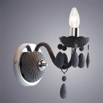 Бра Arte Lamp Morris A8888AP-1GY, 1xE14x40W, серый, пластик - миниатюра 2