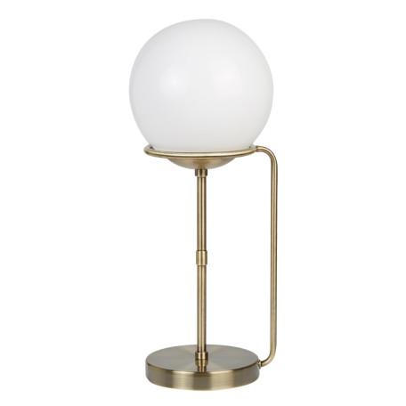 Настольная лампа Arte Lamp Bergamo A2990LT-1AB, 1xE27x60W, бронза, белый, металл, стекло