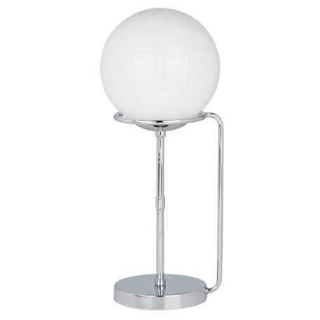 Настольная лампа Arte Lamp Bergamo A2990LT-1CC, 1xE27x60W, хром, белый, металл, стекло