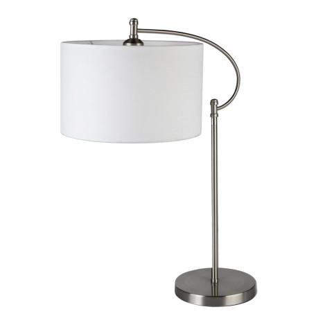 Настольная лампа Arte Lamp Adige A2999LT-1SS, 1xE27x60W, серебро, белый, металл, текстиль