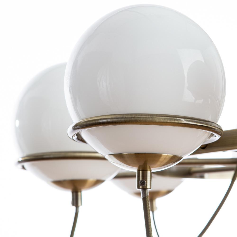 Подвесная люстра Arte Lamp Bergamo A2990LM-8AB, 8xE14x40W, бронза, белый, металл, стекло - фото 4