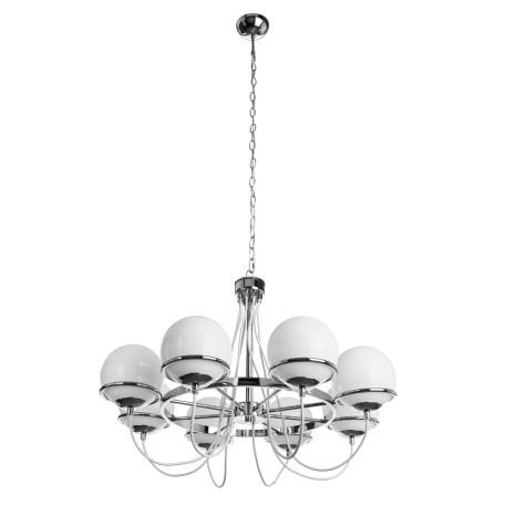 Подвесная люстра Arte Lamp Bergamo A2990LM-8CC, 8xE14x40W, хром, белый, металл, стекло