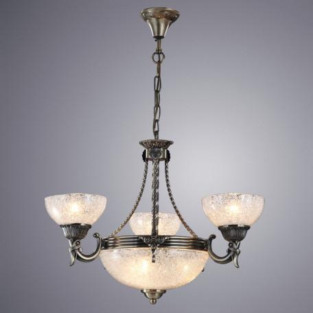 Подвесная люстра Arte Lamp Fedelta A5861LM-3-3AB, 6xE27x60W, бронза, прозрачный, металл, стекло
