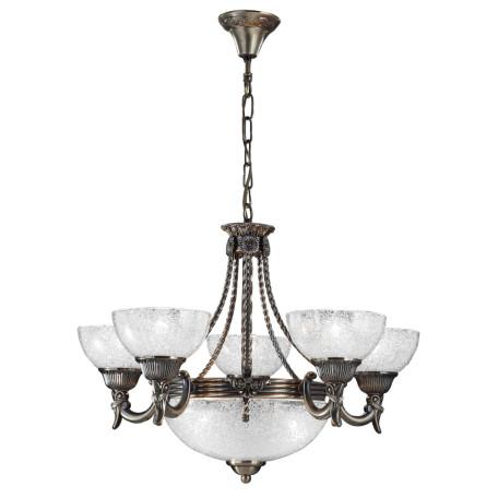 Подвесная люстра Arte Lamp Fedelta A5861LM-3-5AB, 8xE27x60W, бронза, прозрачный, металл, стекло