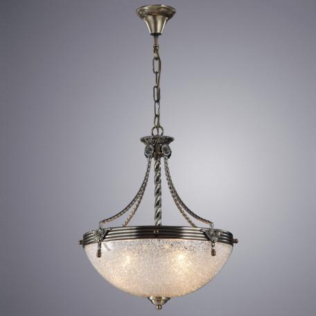 Подвесная люстра Arte Lamp Fedelta A5861SP-3AB, 3xE27x60W, бронза, металл, стекло