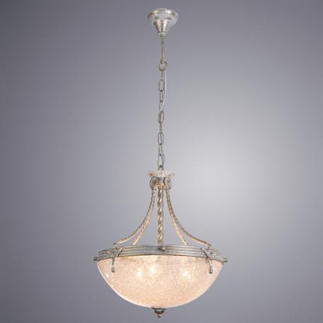 Подвесная люстра Arte Lamp Fedelta A5861SP-3WG, 3xE27x60W, белый с золотой патиной, прозрачный, металл, стекло