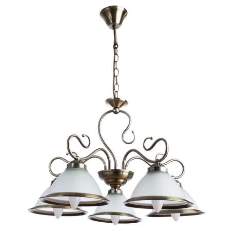 Подвесная люстра Arte Lamp Costanza A6276LM-5AB, 5xE27x60W, бронза, металл, стекло