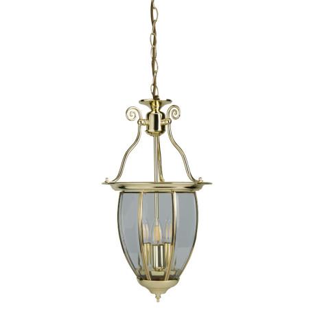 Подвесная люстра Arte Lamp Rimini A6509SP-3PB, 3xE14x60W, медь, прозрачный, металл, стекло