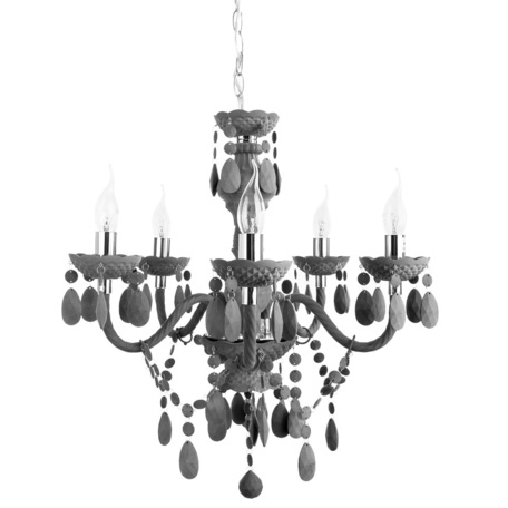 Подвесная люстра Arte Lamp Morris A8888LM-5GY, 5xE14x40W, серый, пластик
