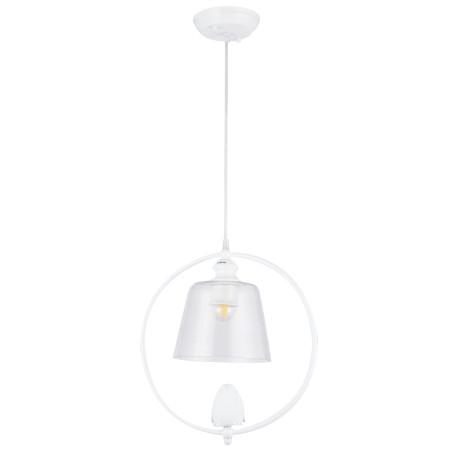 Подвесной светильник Arte Lamp Passero A4289SP-1WH, 1xE27x40W, белый, прозрачный, металл со стеклом/пластиком, стекло