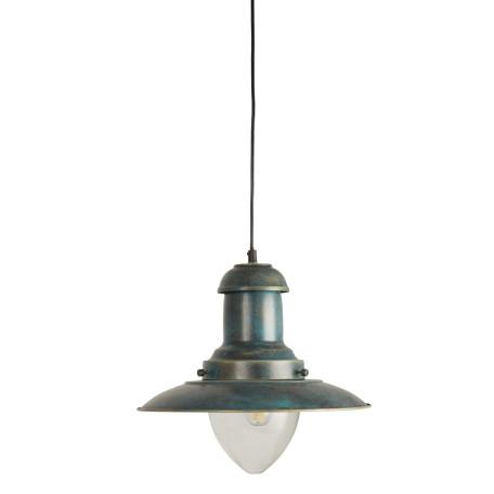 Подвесной светильник Arte Lamp Fisherman A5530SP-1BG, 1xE27x100W, бирюзовый, прозрачный, металл, стекло