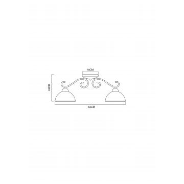 Схема с размерами Arte Lamp A1221PL-3AB