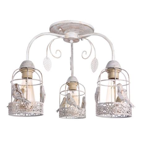 Потолочная люстра Arte Lamp Cincia A5090PL-3WG, 3xE27x40W, белый с золотой патиной, металл