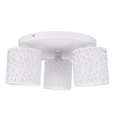 Потолочная люстра Arte Lamp Traforato A8349PL-3WH, 3xE14x40W, белый, металл, металл со стеклом