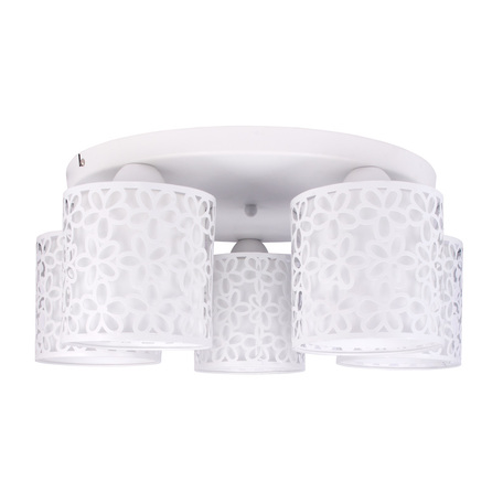 Потолочная люстра Arte Lamp Traforato A8349PL-5WH, 5xE14x40W, белый, металл, металл со стеклом - миниатюра 1