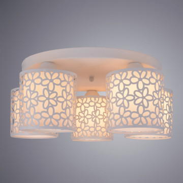 Потолочная люстра Arte Lamp Traforato A8349PL-5WH, 5xE14x40W, белый, металл, металл со стеклом - миниатюра 2