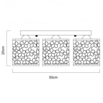 Схема с размерами Arte Lamp A8349PL-5WH