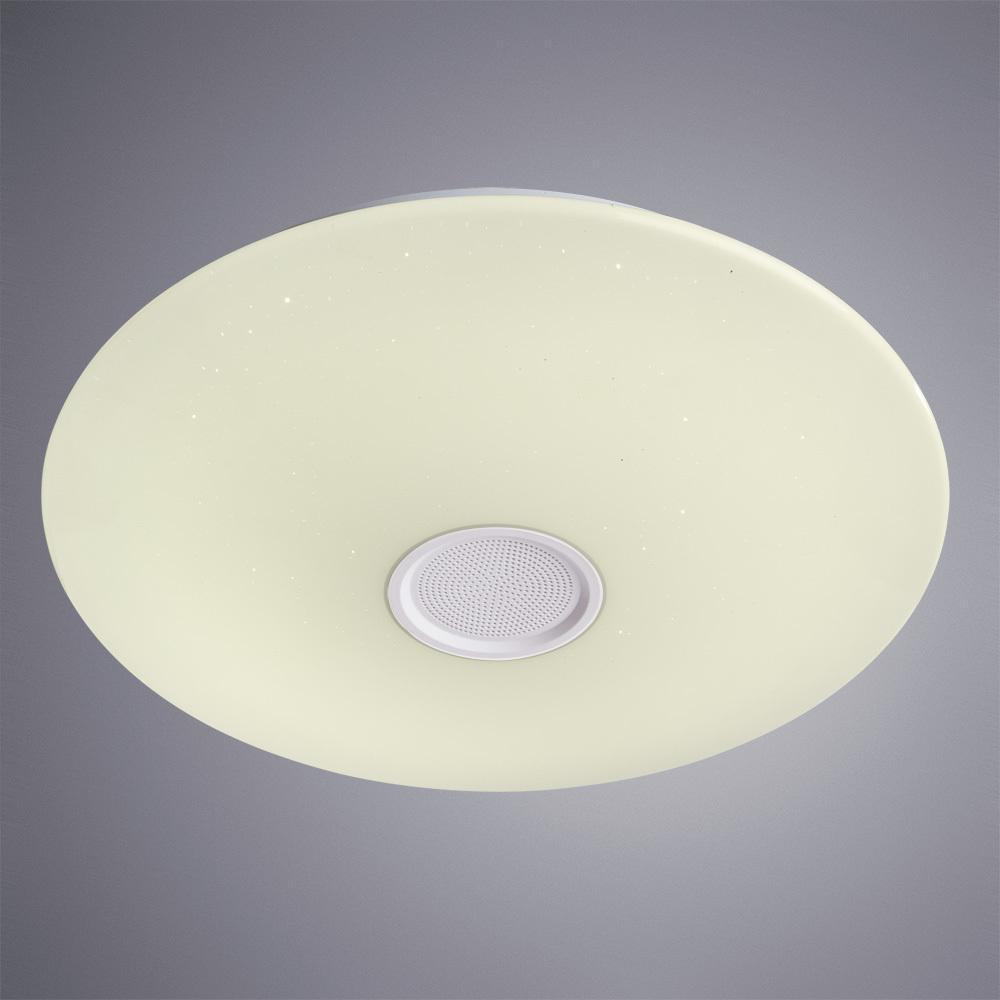 Музыкальный потолочный светодиодный светильник Arte Lamp Suono A5524PL-1WH, IP44, белый, металл, пластик - фото 2